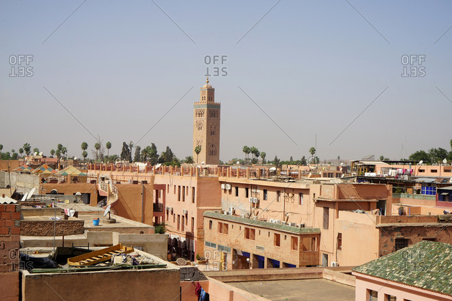 January 1, 2013: Marrakesh square  in African, Moroccan