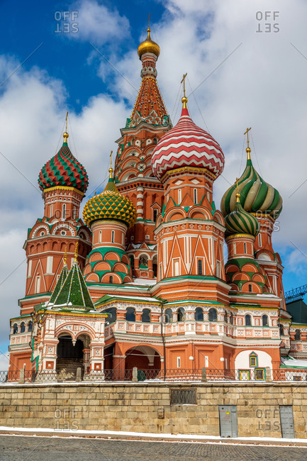 Red square in Moscow, Russia church