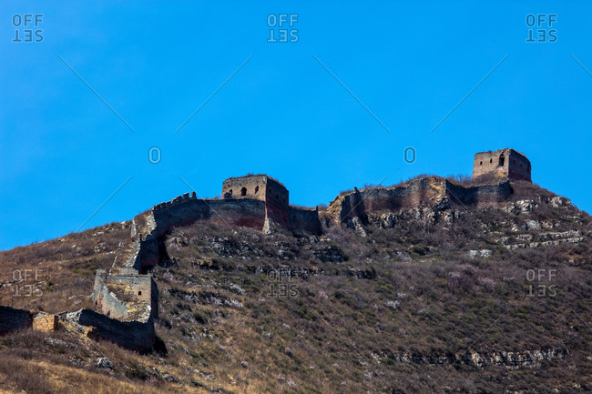 The great wall in Hebei Tangshan Qianan region