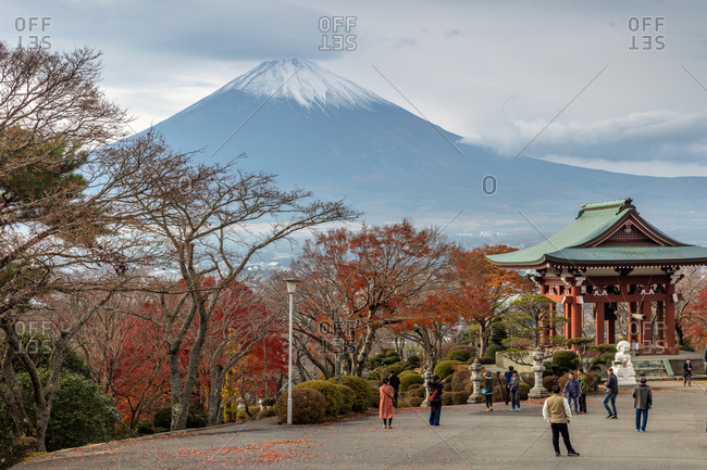 December 3, 2018: Japan's Mount Fuji Hakone Peace Park