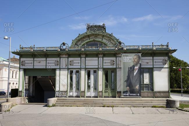August 8, 2019: Austria- Vienna- Otto Wagner Pavilion