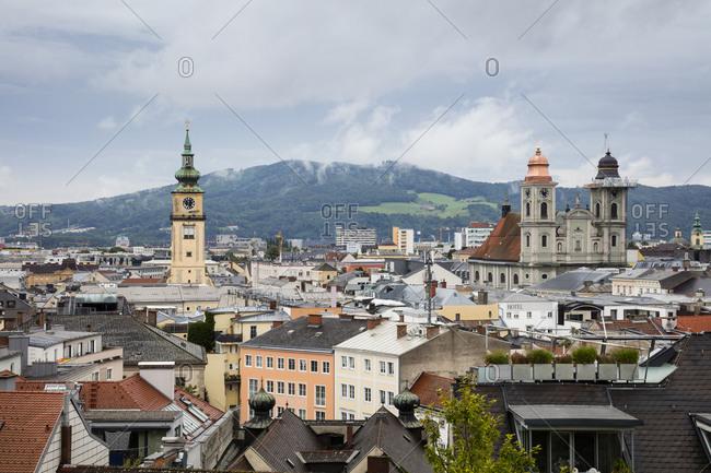 August 17, 2019: Austria- Upper Austria- Linz- Cityscape
