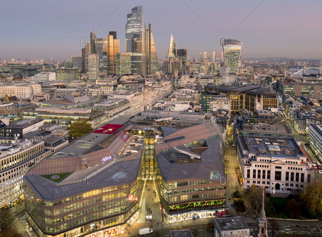 December 2, 2019: City of London, Square Mile, image shows completed 22 Bishopsgate tower, London, England, United Kingdom, Europe