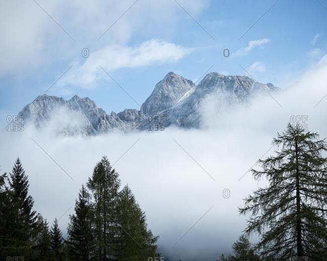Detail of Mountain Peaks, Vrsic Pass, Julian Alps, Triglav National Park, Upper Carniola, Slovenia, Europe