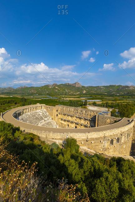 Aspendos Amphitheatre, Antalya, Turkey, Asia Minor, Eurasia
