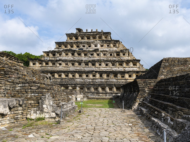 Pyramid of the Niches, Pre-Columbian archaeological site of El Tajin, UNESCO World Heritage Site, Veracruz, Mexico, North America