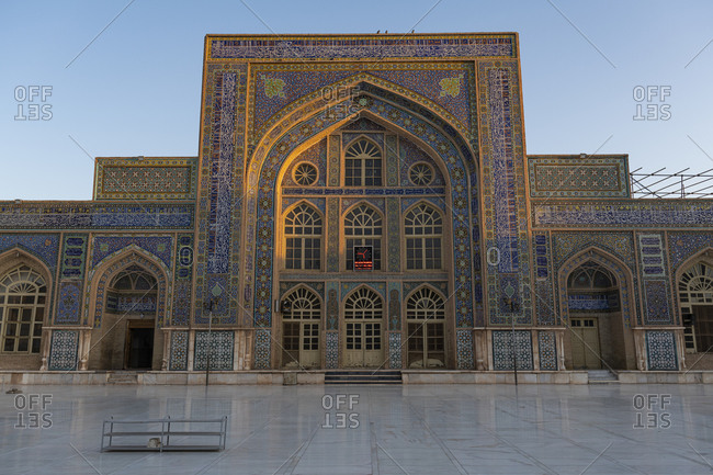 October 20, 2019: Sunrise over the Great Mosque of Herat, Afghanistan, Asia