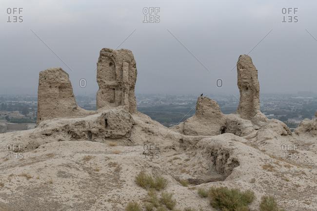 Ruins of old Kandahar, Zorr Shar, founded by Alexander the Great, Kandahar, Afghanistan, Asia