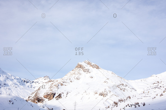 Snow covered peak in the Swiss Alps