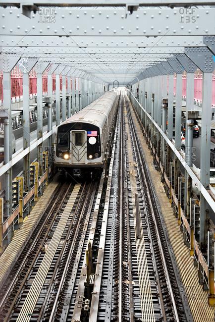 USA- New York- New York City- Commuter train
