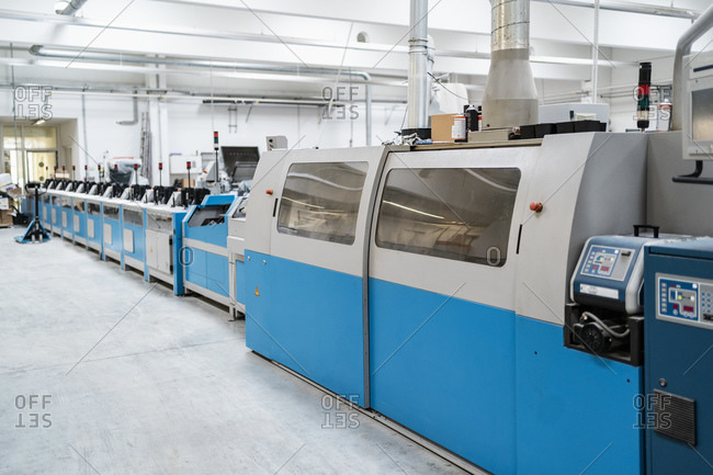 Printing machines in factory shop floor