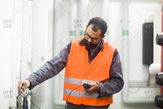Heating engineer checking system