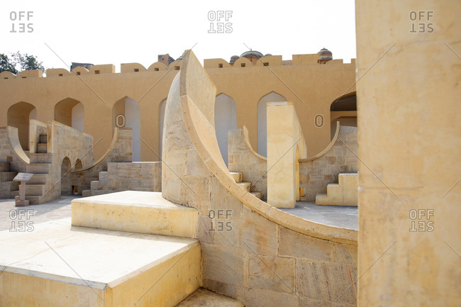 Jantar Mantar Astrological Park used to observe the stars and measure time, Jaipur, India