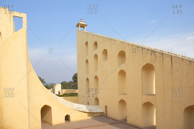 Jantar Mantar Astrological Park used to observe the stars and measure time in Jaipur, India