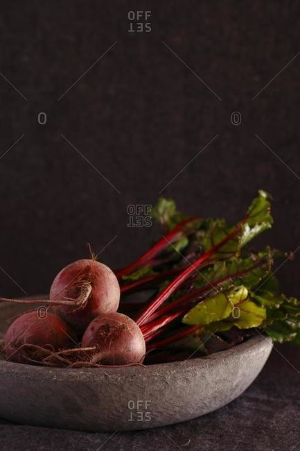 Fresh Beetroot in a bowl