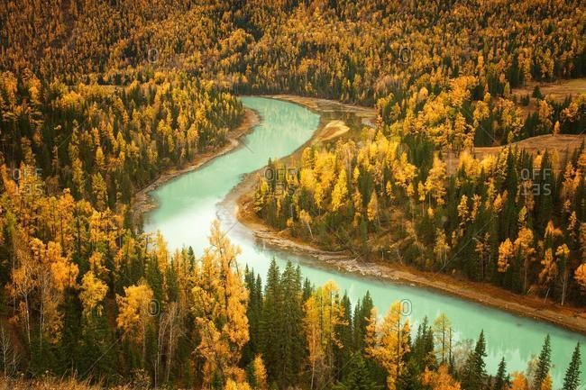 Kanas Lake and alpine forest, Burqin county, Altay Prefecture, Xinjiang, China