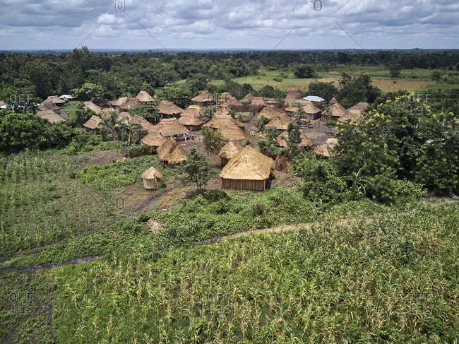 Benin- Small traditional village of Holi tribe