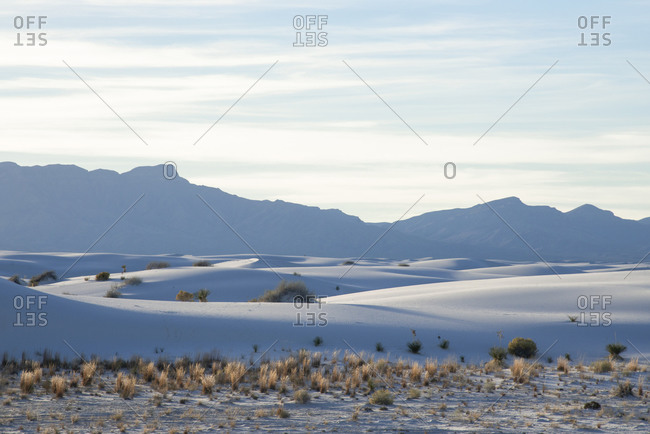 Landscape of White Sands National Park near Alamogordo, New Mexico