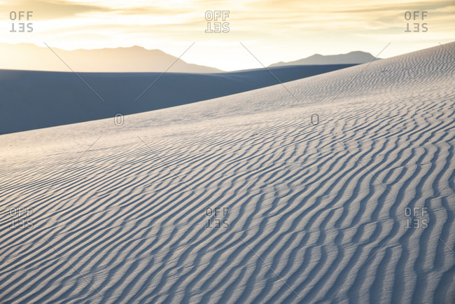 Detail of a sand dune in White Sands National Park near Alamogordo, New Mexico