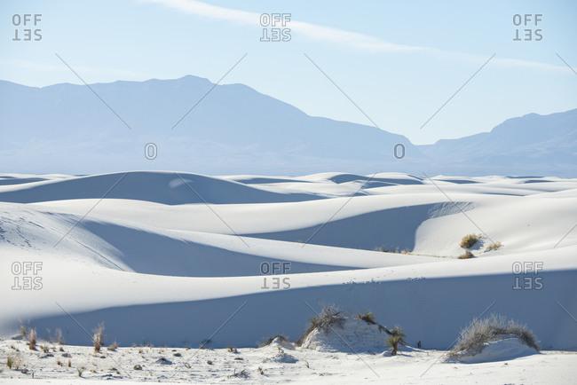 Sand dunes at the White Sands National Park near Alamogordo, New Mexico