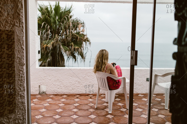 Woman on vacation at a resort in Mexico