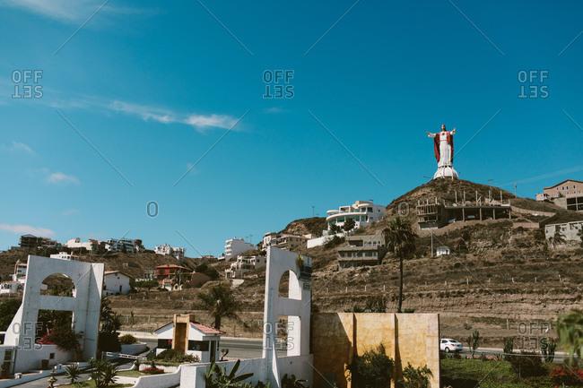 Ensenada, Baja California, Mexico - August 17, 2019: Christ of the Sacred Heart