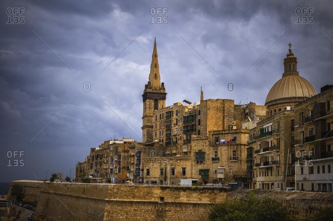 Malta- Valletta- Old town buildings