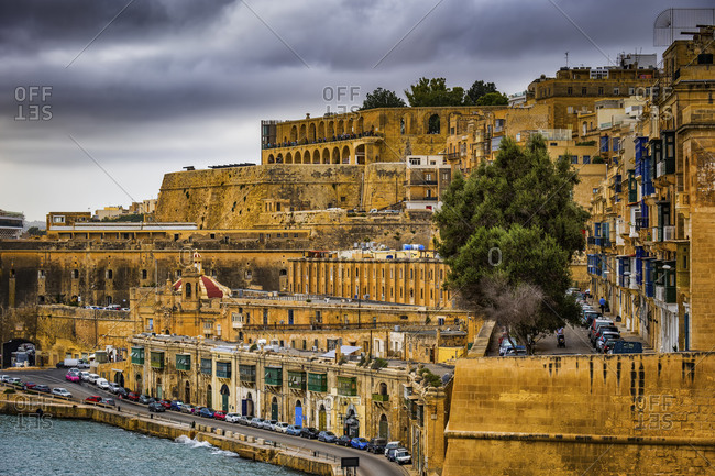 Malta- Valletta- View of old town