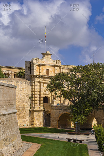 Malta- Medina- Medina Gate - Vilhena Gate to Silent City- Baroque style architecture- 1724
