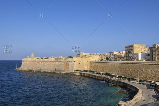 Malta- Valletta- walled city and Fort Saint Elmo
