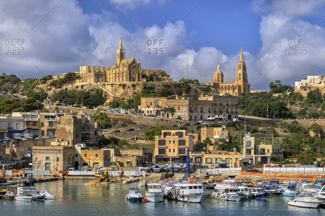 Malta- Gozo island- Mgarr town and harbor