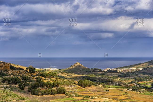 Malta- Landscape of Gozo island in the Mediterranean Sea
