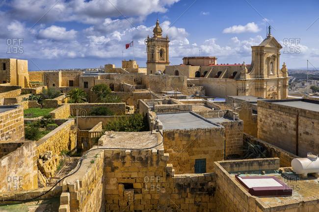 Malta- Gozo- Victoria- Cittadella and surrounding old town houses