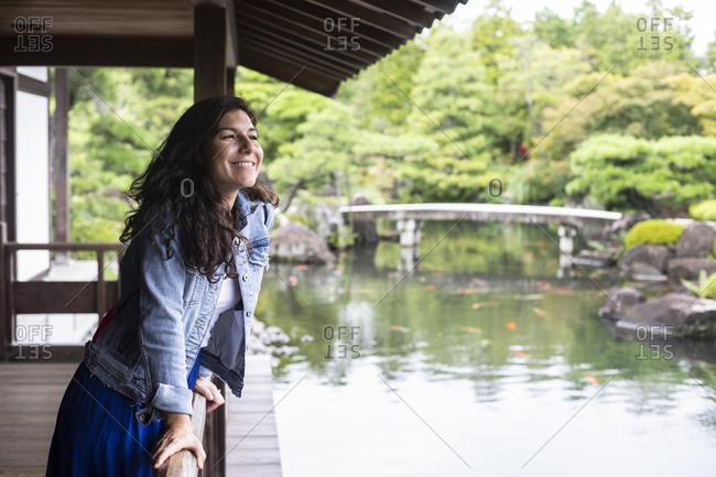 Japan- Himeji- Woman in Adelaide Himeji Gardens