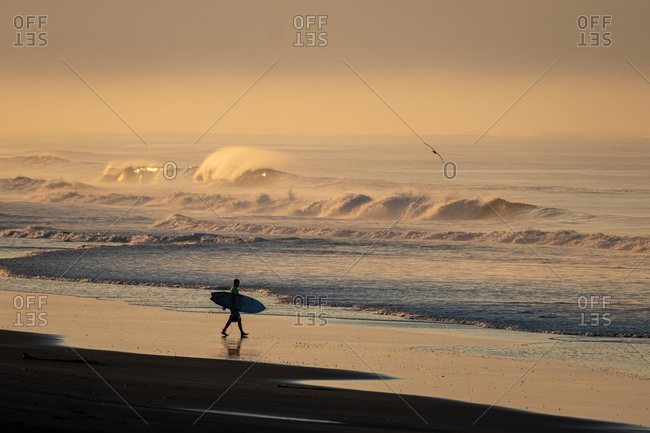 Surf the first light in the morning