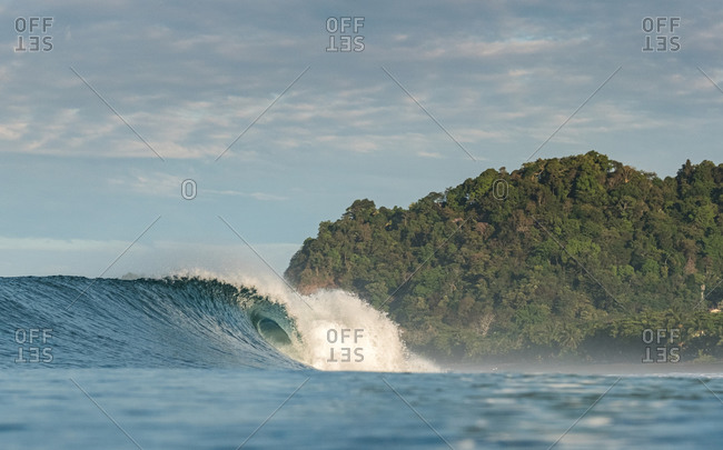 A morning wave in Costa Rica