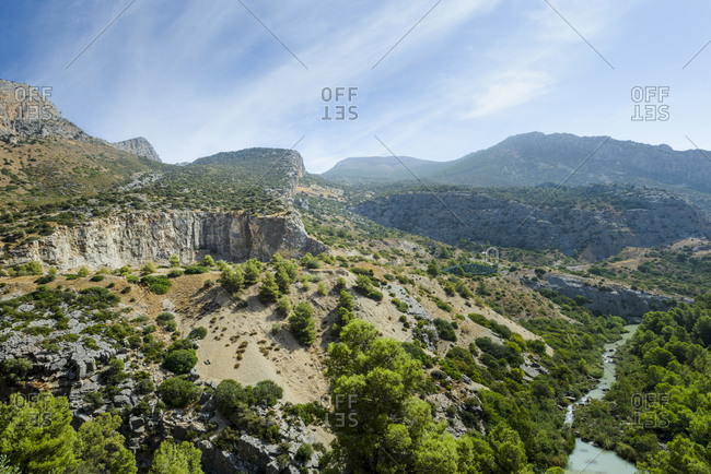 Panoramic of the Valley of the Hole in Natural Site of Desfilade
