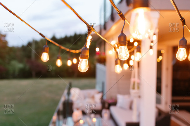 String Lights outdoors - Offset Collection