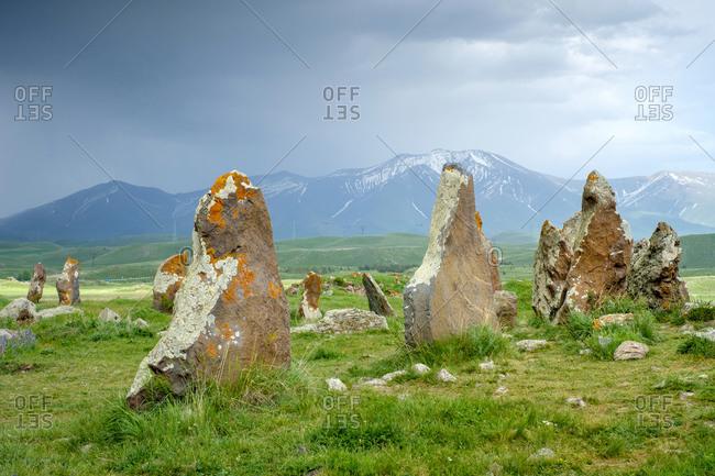 Zorats Karer (Carahunge) standing stones (menhirs), Sisian, Syunik Province, Armenia
