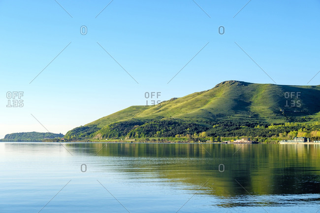 Lake Sevan at dawn, Sevan, Gegharkunik Province, Armenia