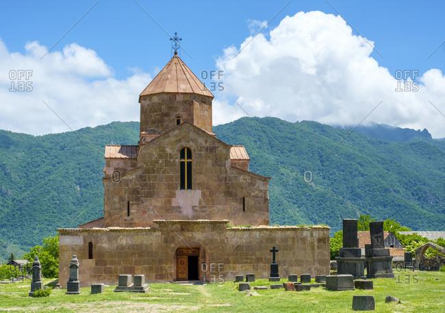Armenia, Lori Province, Odzun - May 28, 2019: Odzun Monastery, St Astvatsatsin Church (Surp Astvatsatsin)