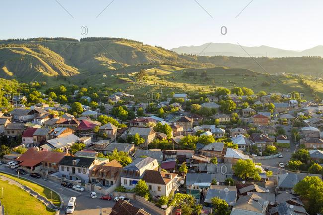 Georgia, Samtskhe-Javakheti, Akhaltsikhe - May 29, 2019: Town of Akhaltsikhe