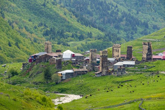 Murkmeli village, Ushguli, Samegrelo-Zemo Svaneti region, Georgia