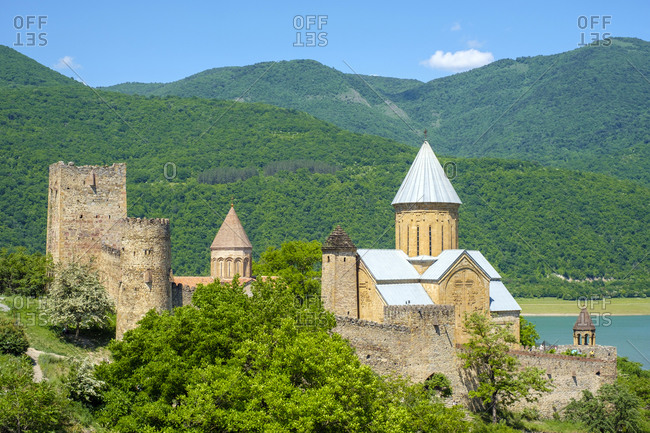 Ananuri Castle complex on the Aragvi River, Ananuri, Mtskheta-Mtianeti, Georgia