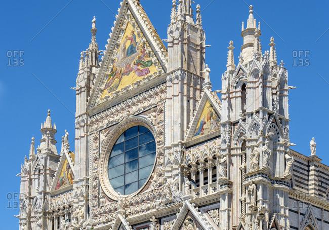 Facade of Duomo di Siena (Siena Cathedral), Siena, Tuscany, Italy