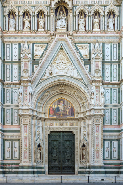 Florence Cathedral (Duomo di Firenze) Facade, Florence, Tuscany, Italy