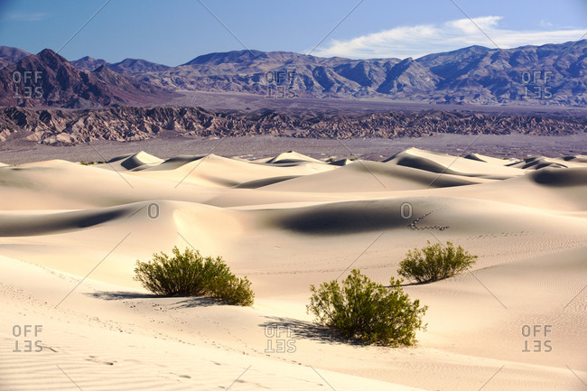 The Mesquite flat sand dunes in Death Valley