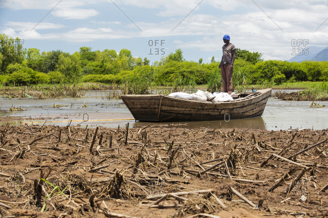 Malawi, Southern Region, Mulanje - March 12, 2015: Three day period of excessive rain brought unprecedented floods and displaced nearly quarter of a million people