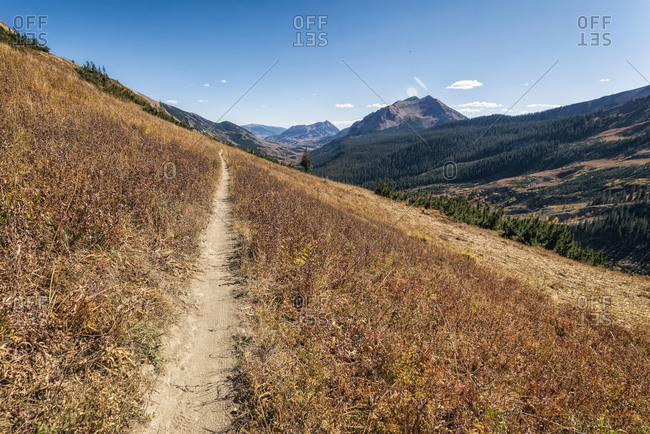 Hiking Trail in the Maroon Bells-Snowmass Wilderness