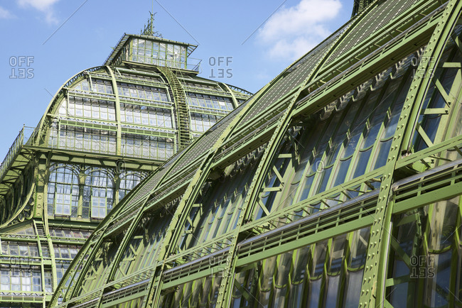 Greenhouse in Schonbrunn Palace at Vienna Austria